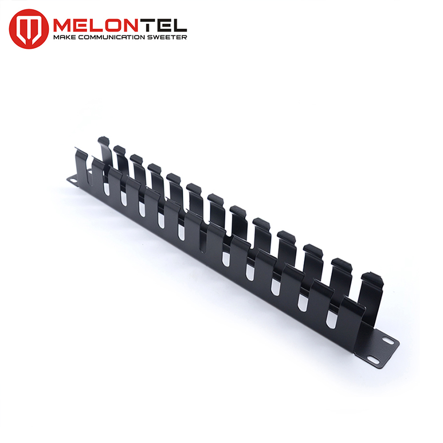 MT-4461 19 Inch 1U Horizontal Network Cable Organizer With Metal Cover