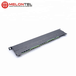 MT-4018 24 Port 0.5U IDC Cat6 UTP Patch Panel