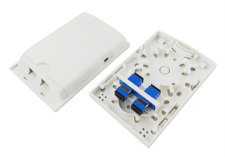 MT-1211 Wall Mount Type Indoor Plastic 2 Core Terminal Box for Fiber Optic Cabling