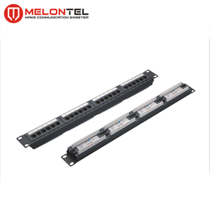 MT-4012 AMP Type CAT6 CAT5e 24 Port Patch Panel 48 Port