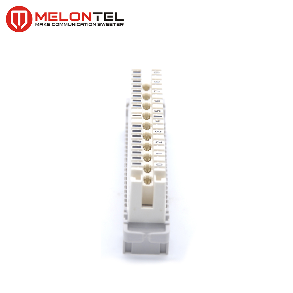 MT-2002-D 6089 1 121-02 10 pair brass profile mount disconnection LSA PLUS terminal block
