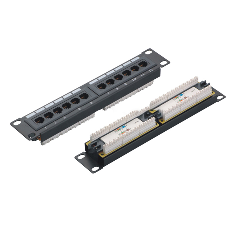MT-4005 Wall Mount 8 Port CAT6 CAT5E Patch Panel 10 Inch Rack Mount Type