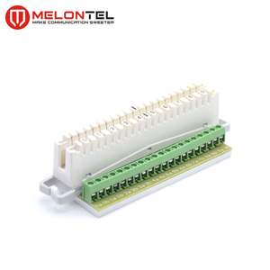 MT-2006 10 pair PCB LSA Korne strip module with screw terminals